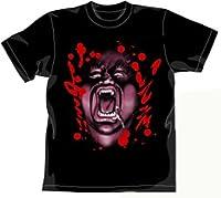 北斗の拳 ハート様Tシャツ ブラック サイズ:XL