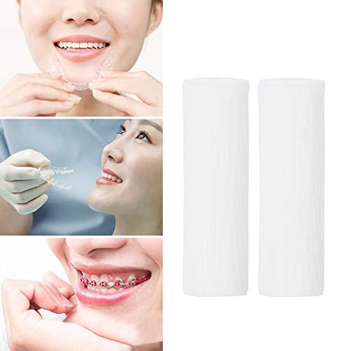 Orthese unsichtbar, Organisches Silikon, kieferorthopädische Zähne, kieferorthopädisches Kauen, schützt den Mund, 2 Stück