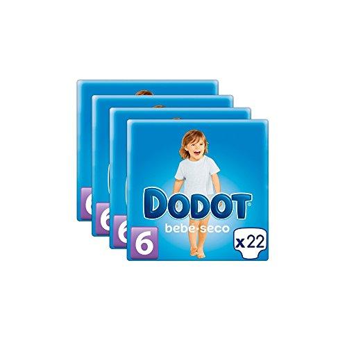 Pañales DODOT Talla 6 88 unidades (4 paquetes de 22 pañales) (13+ kg)