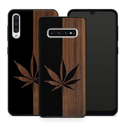 Handyhülle Weed für Samsung Silikon Hülle PSY Gras Cannabis Canabis Hanf Bang Holzhülle Om Marihuana, Hüllendesign:Design 2 | Silikon Schwarz, Kompatibel mit Handy:Samsung Galaxy A71
