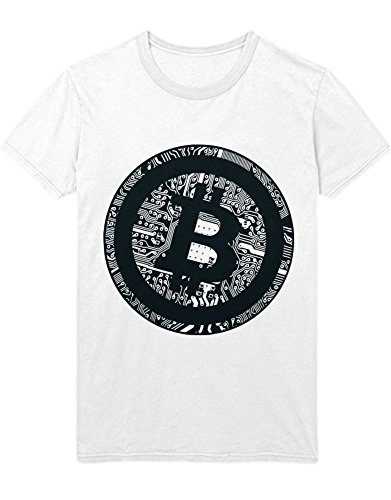 T-Shirt Cryptocurrency Bitcoin PCB H000023 Weiß L