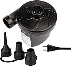 Electric Air Pump for Inflatables - Air Mattress Pump for Bed - Portable Quick Fill Inflator Deflator for Inflatable Airbed,Blow up Pool, Raft, Boat, Floats, Toy, Swimming Rings (AC 110 Volt 130W )