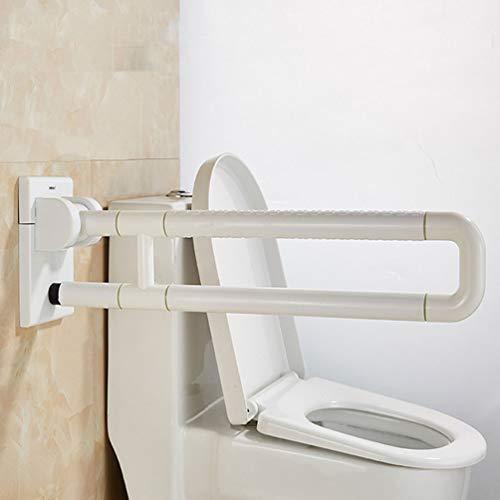 JMUNG Stützklappgriff behindertengerecht Toiletten Stütz-Haltegriff hochklappbar rutschfest Wandmontage für Schwangere Frauen ältere Menschen und behinderten Personen,Weiß