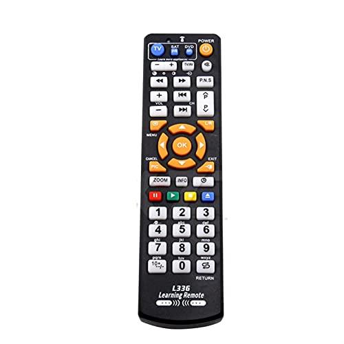 MJJCY Aplicar para Universal Inteligente L336 IR Control Remoto con función de función de Aprendizaje para TV CBL DVD Sat STB DVB HiFi TV Caja VCR STR-T Reemplazar el Control Remoto (Color : Black)