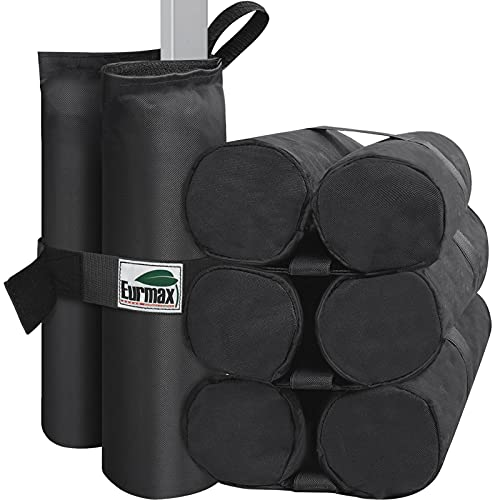 Eurmax Weight Bags for Pop up Canopy Instant Shelter, Sand Bags, Leg Weights for Pop up Canopy Weighted Feet Bag Sand Bag,Filler is not Included (Black)