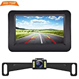 Yakry Y11 HD 720P Backup Camera and Monitor Kit 4.3 Inch Monitor Hitch Rear View License Plate Camera One Power Front View Camera For Cars,Vans,Trucks IP69 Waterproof Super Night Vision