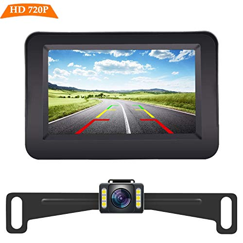 Yakry Y11 HD 720P Backup Camera and Monitor Kit 4.3 Inch Monitor Hitch Rear View License Plate...