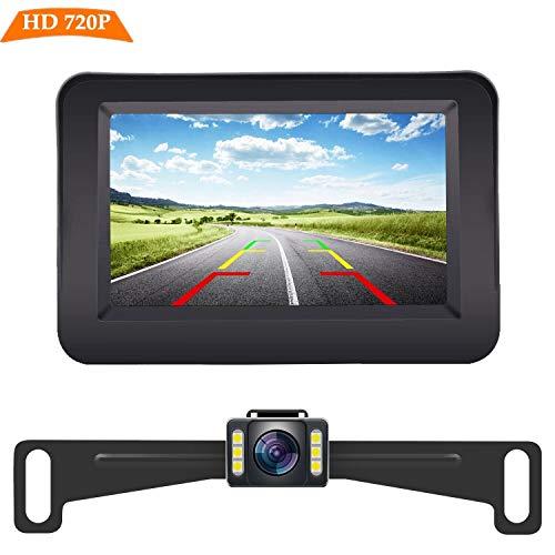 Yakry Y11 HD 720P Backup Camera and Monitor Kit 4.3 Inch Monitor Hitch...