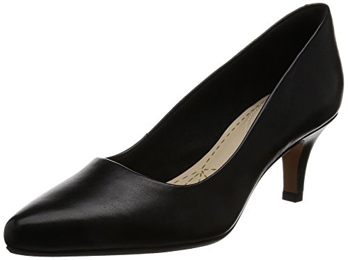 Clarks Damen Isidora Faye Pumps, Schwarz (Black Leather), 41 EU