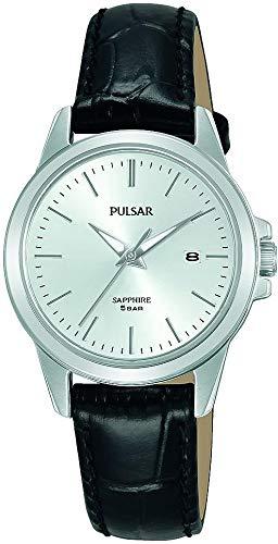 PULSAR Damen Analoger Quarz Uhr mit Echtes Leder Armband PH7509X1