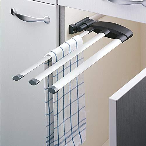 Hailo 3133101 Handtuchhalter Secco Alu Line 3 armig ausziehbar