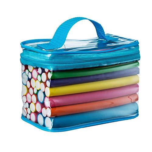 Rulos flexibles,Paquete de 42 Dormir Herramienta de esponja de espuma de bricolaje Para todo tipo de cabello húmedo o seco, Rizadores de pelo de espuma para mujeres y niñas
