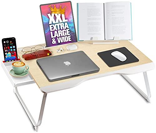 Cooper Mega Table [XXL Mesa Escritorio plegable para portátil] para cama y sofá | mesa desayuno cama, escritura,...