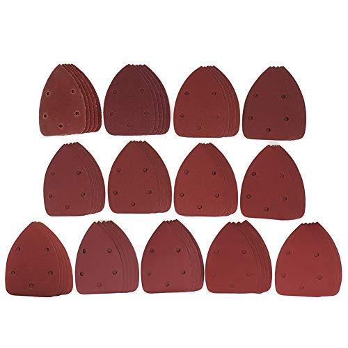 LQCHH Multifunción 20pcs Gancho Autoadhesivo Papel de Lija Triángulo de Papel de Lija Sander Arena Loop Disco abrasivo Herramientas for el Pulido de Ley 60-800 Fácil de Cargar (Grit : 60)