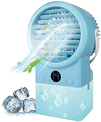JANEFLY Portable Air Conditioner Fan, 3 Speeds Desk Evaporative Cooling Fan with Timer, Personal Mini Air Conditioner Fan for Hot Day Durable