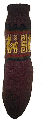 Terrapin Trading Fair Trade Unisex bolivianischen weiche Alpaka Woollen Wollsocken Größe 4-9 für einen Mann oder eine