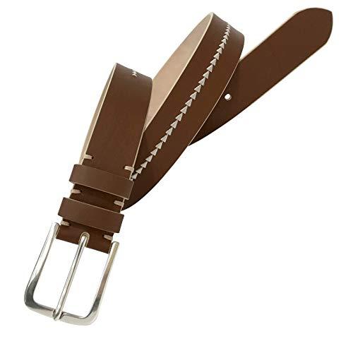 Leyva - Cinturón de piel Nobuck de hombre (100 cm)
