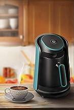 ماكينة تحضير القهوة التركية الأوتوماتيكية 800 واط من ريكو، سعة 0.5 لتر، تصميم خزان كبير للتسخين والغليان الجاف آمن للاستخد...