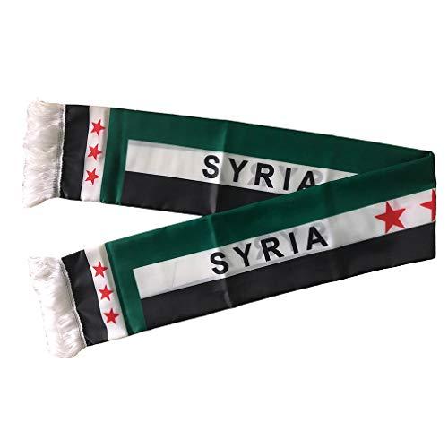 Unisex Nationale Flagge Schal arabischen Shemagh Wüste Tactical Mode Wickeln Keffieh Hatta (Syrien)