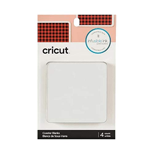 Cricut Coaster Blank, Square Infusible Ink, White