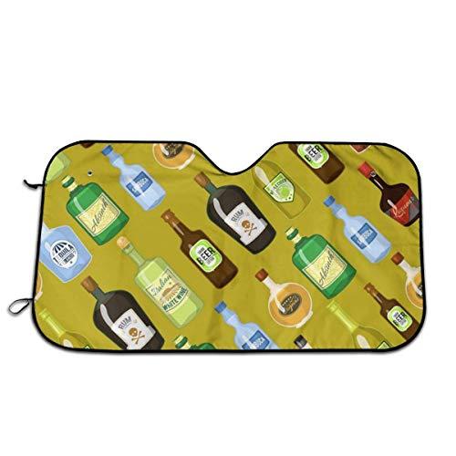 Olive Croft Alcohol sin Costuras con Vino y cóctel Protector para Parabrisas, Protector de Parabrisas Protección UV, Antihielo y Nieve Funda 130 X 70 cm