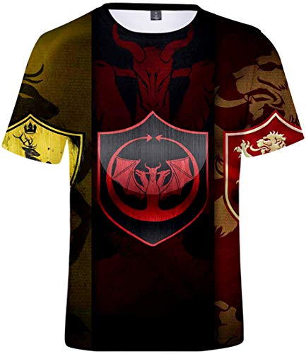 EMLAI Hombre Camiseta con Estampado Digital 3D de The Seven Deadly Sins Camisetas de Anime de Verano(XS,Signo)