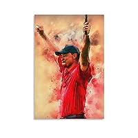 タイガーウッズゴルフポスターアートウォールペインティングポスターデコレーションペインティングウォールアートプリント写真ベッドルームデコレーションポスター12×18インチ(30×45cm)