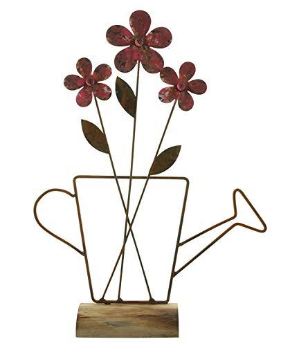 khevga Blumen-Deko Frühling Sommer aus Metall Blume in Grießkanne