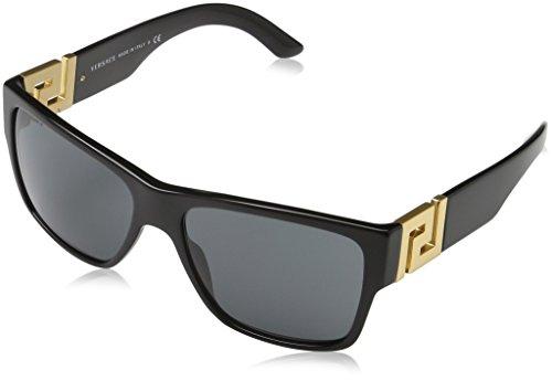 Versace Unisex VE4296 zonnebril, zwart (Black GB1/87), één maat (fabrikantmaat: 59)