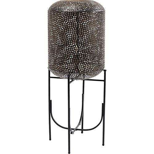 Kare Design Stehleuchte Oasis 92cm, Stahl lackiert, Schwarz, orientalische Tischleuchte, Stehlampe marokkanisch, (H/B/T) 100x38x38cm