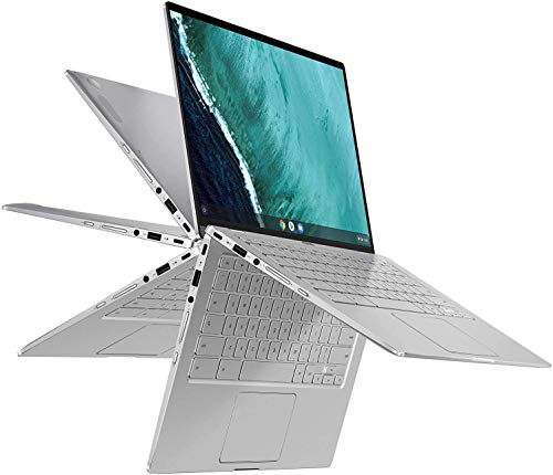 "(Renewed) ASUS Chromebook Flip C434 14 Convertible 2-in-1 Laptop Computer, 14"" FHD Touchscreen, 8th Gen Intel Core m3-8100Y, 4GB RAM, 64GB eMMC, Online Class Ready, Chrome OS, SPMOR Mousepad"