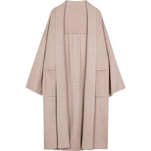 Suéter Pullover Jersey Invierno Elegante Chal Abrigos Cárdigan De Punto Suelto Suéter Cárdigan Extra Suave De Gran Tamaño Abrigo De Punto para Mujer M Camel