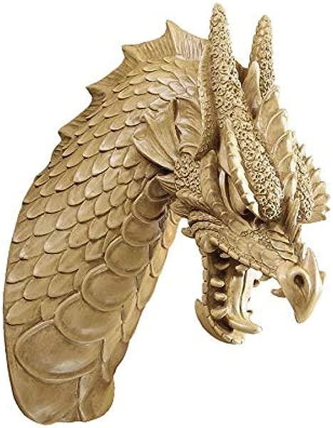 设计托斯卡诺兽头龙墙雕塑