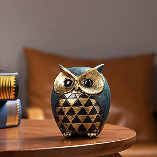 Leekung Owl Statue Home Decor Owl Figurines for Bookshelf Bedroom Living Room Office TV Stand Decorations Owl décor Animal Sculptures Gift for Birds Lovers