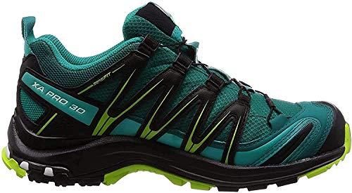 Salomon XA Pro 3D GTX W, Zapatillas de Trail Running para Mujer, Azul (Deep Lake/Black/Lime Green), 38 EU