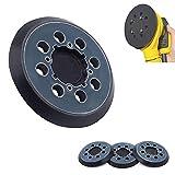 4 Packs 5 inch 8 Hole Orbital Hook and Loop Sander Backer dewalt Orbital Sander Replacement pad Compatible with dwe6423/6423K, DWE6421/6421K, DWE64233 & N329079, d26453, DCW210B,DWE6421-BR