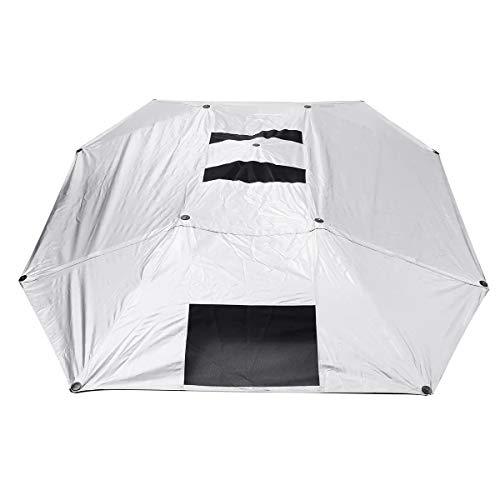 N\A Cubierta de Coche Universal Tienda de campaña Paraguas del Coche Cubierta de Techo portátil Anti-UV Parasol Impermeable semiautomática Completamente Impermeable