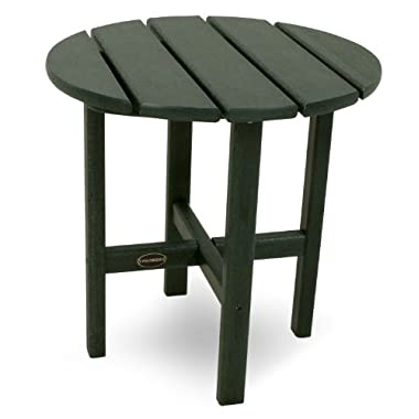 POLYWOOD RST18GR Round 18  Side Table, Green