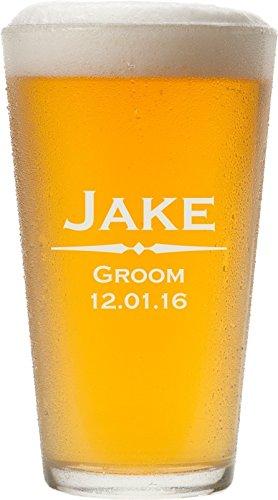 ANY TEXT, Custom Engraved Pint Glasses for Beer, 16 oz - PG01