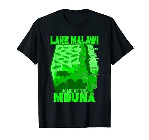 Cichlidés lac Malawi Poissons d'aquarium tropicaux Aquariste T-Shirt