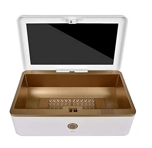 FEGER UV-Sterilisator Box, Ozon Automatische Desinfektion Box Professional UV Box Multifunktionale UV-Sterilisator für Telefon-Schmuck Brille Maske, entfernt 99,99% Bacteria