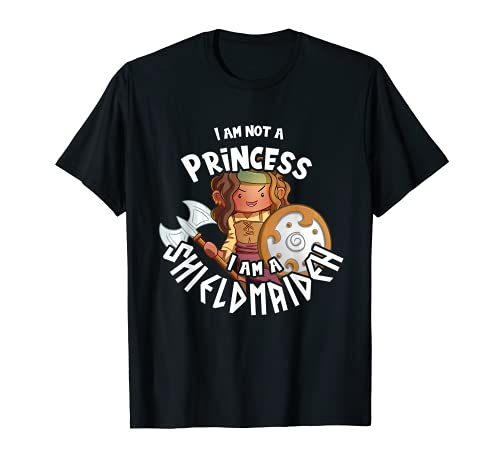 Shieldmaiden no una princesa valquiria nias nios pequeos vikingos Camiseta