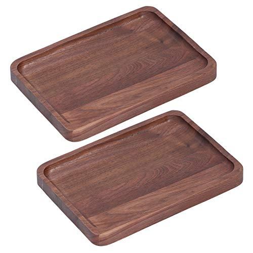 Food Tray Pan Multifunktionale hölzerne Serviertablett Restaurant BBQ Küche für zu Hause