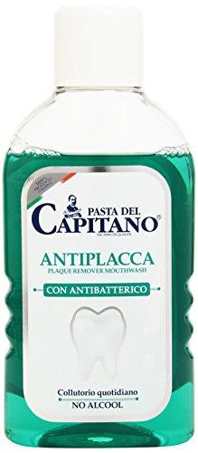 Capitán de pasta - antiplaca, enjuague bucal diario con antibacteriana, nada de alcohol, 400 ml - [paquete de 3]