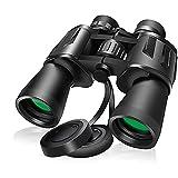 Binoculares 20x50, potentes binoculares para adultos con visión nocturna con poca luz, ocular grande, binoculares gran angular a prueba de agua para observación de aves, caza, conciertos