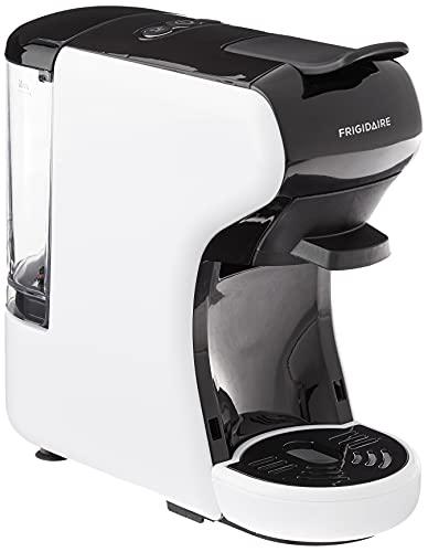 FRIGIDAIRE ECMN103-WHITE - Cafetera compatible con múltiples cápsulas, Nespresso Dolce Gusto y tierras, color blanco