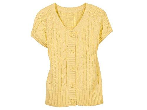 Esmara Damen Strickjacke aus Weichem Wärmendem Grobstrick Farbe Gelb
