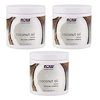NOW Foods Pure Coconut Oil  7 oz  Pack of 3