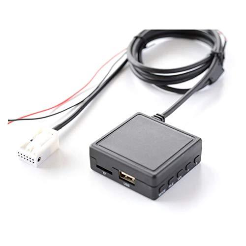 LIULIANG MeiKeL Coche Wireless Bluetooth Módulo Adaptador de música 12Pin Receptor Auxiliar Aux Audio Ajuste para BMW E60 E63 E64 E65 E81 E82 E87 E90 E91 E92 (Color Name : with Mic and USB)