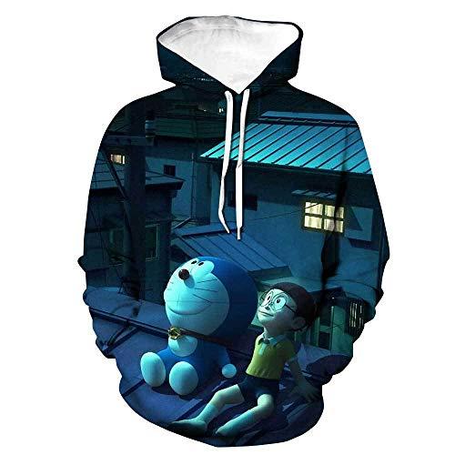 Sudaderas con Capucha 3D ImpresinSudadera con Capucha de Doraemon, Jersey con Estampado de Anime en 3D, Disfraz de Cosplay Manga Unisex-7_XXXXL